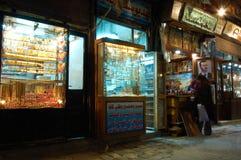 Καταστήματα στα bazaars της Δαμασκού, sirya στοκ εικόνα