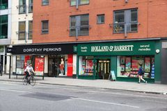 Καταστήματα του Λονδίνου Στοκ εικόνα με δικαίωμα ελεύθερης χρήσης
