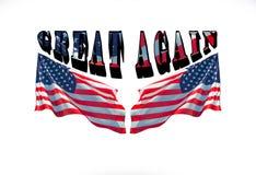 Καταστήστε την Αμερική μεγάλη πάλι με την αμερικανική σημαία στο υπόβαθρο Στοκ φωτογραφία με δικαίωμα ελεύθερης χρήσης
