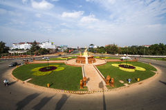Καταστατικό Samdach chounnat στην ασημένια παγόδα της Royal Palace ημέρας της ανεξαρτησίας της Καμπότζης Στοκ φωτογραφία με δικαίωμα ελεύθερης χρήσης