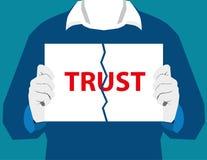 Καταστρέψτε την εμπιστοσύνη χωρισμού εμπιστοσύνης καταστρέφει τις σχέσεις σχέση Στοκ φωτογραφία με δικαίωμα ελεύθερης χρήσης