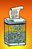 Καταστροφέας εγγράφων εγγράφου, συσκευή γραφείων Μυστικές πληροφορίες ελεύθερη απεικόνιση δικαιώματος