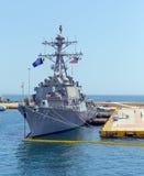 Καταστροφέας USS Donald Cook &#x28 κατευθυνόμενων βλημάτων κατηγορίας Burke Arleigh DDG-75&#x29  Στοκ Φωτογραφίες