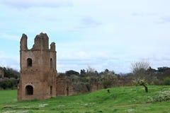 Καταστροφές από Circo Di Massenzio μέσα μέσω Apia Antica στη Ρώμη Στοκ Φωτογραφίες