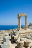 καταστροφές αρχαίου Έλληνα Στοκ Εικόνες