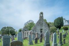 Καταστροφές εκκλησιών Kirkoswold και παλαιό KirkYard στο νότιο Ayrshire Σκωτία στοκ εικόνες