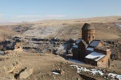 Καταστροφές εκκλησιών σε Ani, Τουρκία Στοκ εικόνες με δικαίωμα ελεύθερης χρήσης