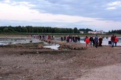 Καταστροφές εκκλησιών στο νησί Λετονία του ST Meinard ikskile στον ποταμό Daugava Φωτογραφία που λαμβάνεται στις 26 Αυγούστου 201 Στοκ φωτογραφίες με δικαίωμα ελεύθερης χρήσης