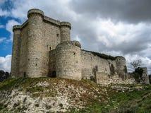 Καταστροφές ενός κάστρου σε Sesena, Λα Mancha, Ισπανία της Καστίλλης Στοκ Εικόνες
