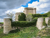 Καταστροφές ενός κάστρου σε Sesena, Λα Mancha, Ισπανία της Καστίλλης Στοκ Εικόνα
