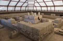 Καταστροφές ενός ρωμαϊκού τάφου αυτοκρατόρων επί του archeological τόπου ν Viminacium Στοκ Φωτογραφίες