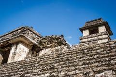 Καταστροφές επί του archeological τόπου Palenque, Chiapas, Μεξικό Στοκ Φωτογραφία