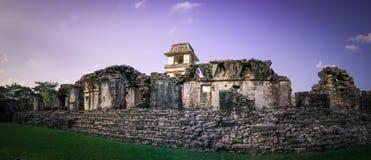 Καταστροφές επί του archeological τόπου Palenque, Chiapas, Μεξικό Στοκ φωτογραφίες με δικαίωμα ελεύθερης χρήσης