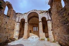 Καταστροφές κάστρων Hilarion, βόρεια Κύπρος Στοκ Εικόνες