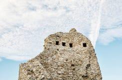 Καταστροφές κάστρων Hrusov, Σλοβακία, σκηνή τοίχων λεπτομέρειας Στοκ Φωτογραφίες