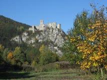 Καταστροφές κάστρων Strecno, Σλοβακία Στοκ φωτογραφίες με δικαίωμα ελεύθερης χρήσης
