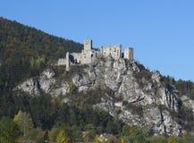 Καταστροφές κάστρων Strecno, Σλοβακία Στοκ φωτογραφία με δικαίωμα ελεύθερης χρήσης