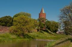 Καταστροφές κάστρων Vordingborg και ο πύργος χήνων Στοκ Φωτογραφία