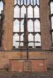 Καταστροφές καθεδρικών ναών του Κόβεντρυ Στοκ φωτογραφία με δικαίωμα ελεύθερης χρήσης