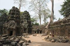 Καταστροφές και ναοί Angkor wat η Καμπότζη συγκεντρώνει siem Στοκ εικόνες με δικαίωμα ελεύθερης χρήσης