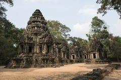 Καταστροφές και ναοί Angkor wat η Καμπότζη συγκεντρώνει siem Στοκ Εικόνες