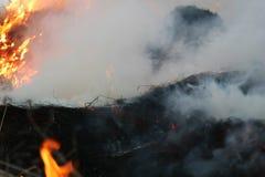 καταστροφές καπνώείς Στοκ φωτογραφία με δικαίωμα ελεύθερης χρήσης