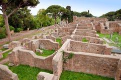 Καταστροφές λουτρών Ποσειδώνα σε Ostia Antica - τη Ρώμη Στοκ Εικόνα