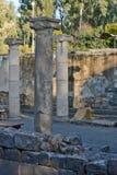 Καταστροφές μιας αρχαίας συναγωγής στο αρχαιολογικό πάρκο Στοκ Εικόνες