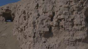 Καταστροφές μιας εγκαταλειμμένης του χωριού πόλης, κεντρική Ασία απόθεμα βίντεο