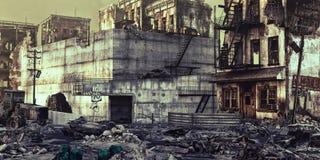 Καταστροφές μιας πόλης ελεύθερη απεικόνιση δικαιώματος