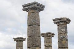 Καταστροφές μιας ρωμαϊκής πόλης, στήλες Στοκ Φωτογραφία