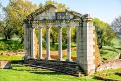 Καταστροφές ναών σε αρχαίο Apollonia Στοκ εικόνα με δικαίωμα ελεύθερης χρήσης
