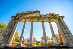 Καταστροφές ναών σε αρχαίο Apollonia Στοκ φωτογραφία με δικαίωμα ελεύθερης χρήσης