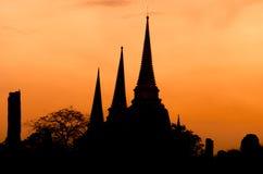 Καταστροφές ναών σε Ayutthaya στην Ταϊλάνδη Στοκ Εικόνες