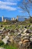 Καταστροφές ναών Aphrodite σε Aphrodisias Τουρκία Στοκ εικόνες με δικαίωμα ελεύθερης χρήσης