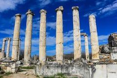 Καταστροφές ναών Aphrodite σε Aphrodisias Τουρκία Στοκ Φωτογραφία