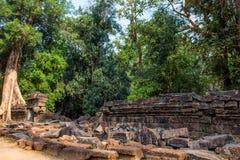 Καταστροφές ναών Bayon, Angkor, Καμπότζη Στοκ Εικόνα
