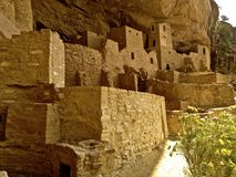 Καταστροφές παλατιών απότομων βράχων σε Mesa Verde Στοκ Φωτογραφίες