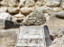 Καταστροφές παλατιών της Κνωσού δεικτών Κρήτη Ελλάδα Ηράκλειο Στοκ εικόνα με δικαίωμα ελεύθερης χρήσης