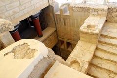 Καταστροφές παλατιών της Κνωσού Κρήτη Ελλάδα Ηράκλειο Στοκ Εικόνες