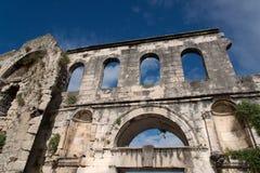 Καταστροφές παλατιών Diocletian - διάσπαση Στοκ Εικόνα