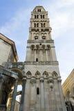 Καταστροφές παλατιών Diocletian και πύργος κουδουνιών καθεδρικών ναών, διάσπαση, Στοκ Εικόνες