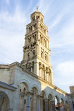 Καταστροφές παλατιών Diocletian και πύργος κουδουνιών καθεδρικών ναών, διάσπαση Στοκ Φωτογραφία