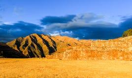 Καταστροφές παλατιών Inca σε Chinchero, Cuzco, Περού Στοκ εικόνα με δικαίωμα ελεύθερης χρήσης
