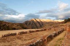 Καταστροφές παλατιών Inca σε Chinchero, Cuzco, Περού Στοκ φωτογραφία με δικαίωμα ελεύθερης χρήσης