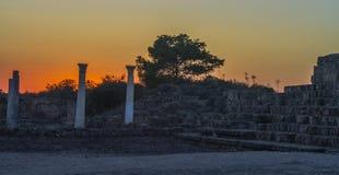 Καταστροφές σαλαμιών Greco †«ρωμαϊκές σε Famagusta Κύπρος Στοκ Εικόνες
