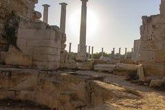 Καταστροφές σαλαμιών Greco †«ρωμαϊκές σε Famagusta Κύπρος Στοκ Εικόνα