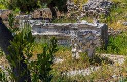 Καταστροφές σε αρχαίο Corinth Στοκ Εικόνα