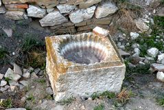 Καταστροφές σε Halmyris, antic ελληνική πόλη σε Dobrogea Στοκ Εικόνες