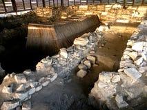 Καταστροφές σε Halmyris, antic ελληνική πόλη σε Dobrogea Στοκ Φωτογραφίες